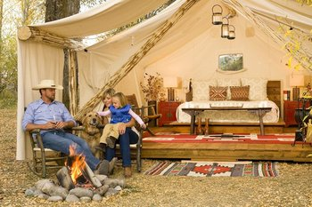 Family Camping at Fireside Resort