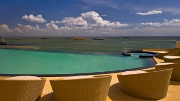 Infinity pool at Hyatt Regency Trinidad.