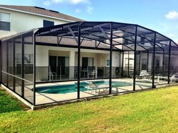 Private pool at Orlando Sunshine Villas.