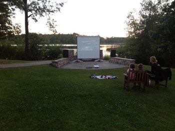 Outdoor theater at Heartwood Conference Center & Retreat.