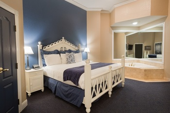 Guest room at Blue Harbor Resort and Spa.