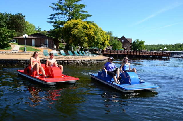 Peddle boats at Tan-Tar-A Resort.