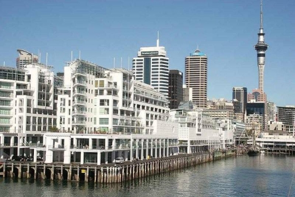 View from Auckland Waterfront Serviced Apartments at Prince's Wharf.