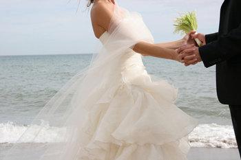 Wedding on the beach at Hampton Inn & Suites Jekyll Island.