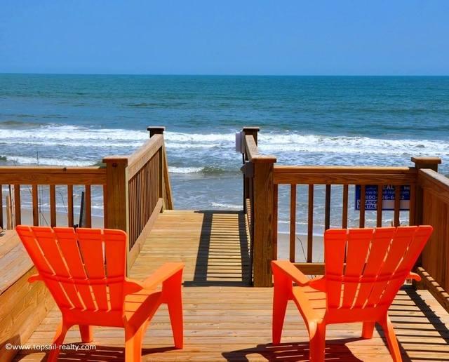 Beach view at Topsail Realty.
