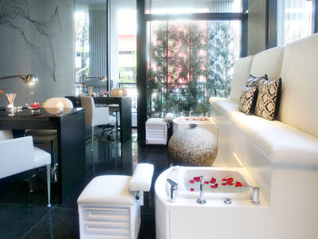 The spa at Sofitel Los Angeles.