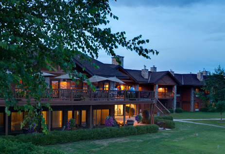 Exterior view of Sugar Lake Lodge.