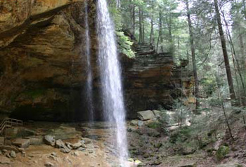 Ash Cave Waterfall at Hummingbird Hill Rentals
