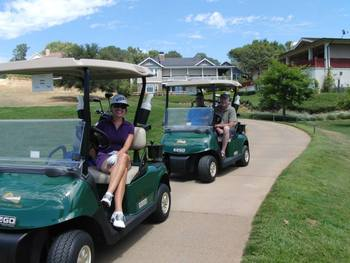 Golf carts from Greenhorn Creek Resort.