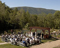 Outdoor wedding at House Mountain Inn.