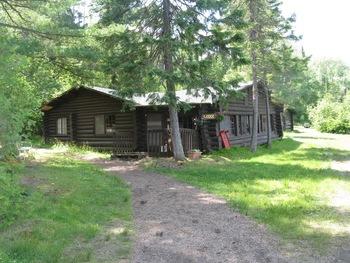 Cabin exterior at Loon Lake Lodge.