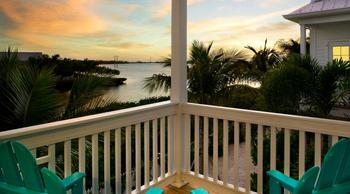 Ocean view from balcony at Parrot Key Resort.