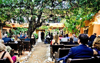 Wedding Ceremony at Trois Estate at Enchanted Rock