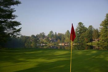 Golf green view at High Hampton Inn.
