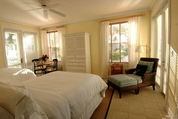 Cottage bedroom at Sunset Key Guest Cottages.