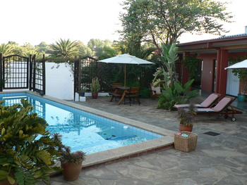 Outdoor pool at Rivendell Guest House.
