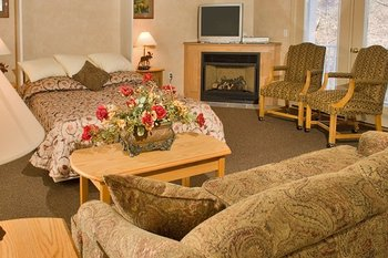 Suite interior at Attitash Mountain Village.