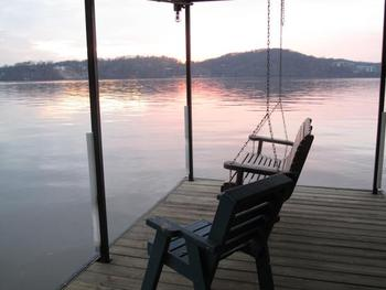 Relax by the dock at Sunset Inn Resort.