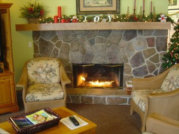 Fireplace at Meadow Ridge Resort