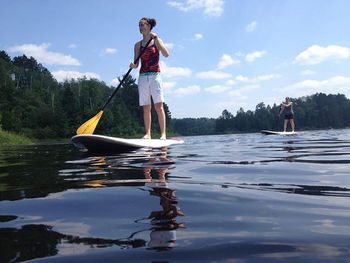 Paddle boarding at Giants Ridge Golf and Ski Resort.