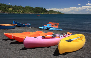 Canoes at Thousand Hills Golf Resort