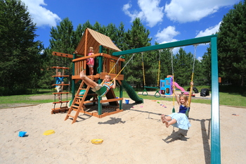 Kid's playground at Trout Creek Condominium Resort.