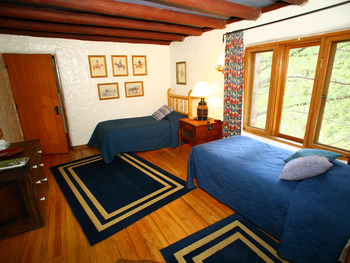 Guest room at Tumbling River Ranch.