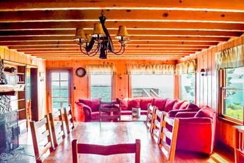 Mansion dining room at Meeks Bay Resort & Marina.