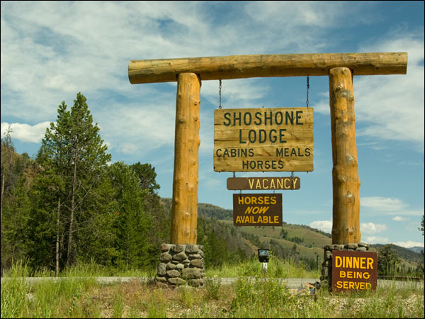 Entrance to Shoshone Lodge & Ranch