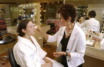 Makeup application services at The Spa at Norwich Inn.