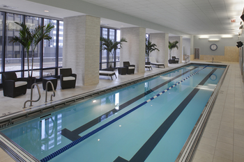Vacation rental indoor pool at Chicago Property Concierge.