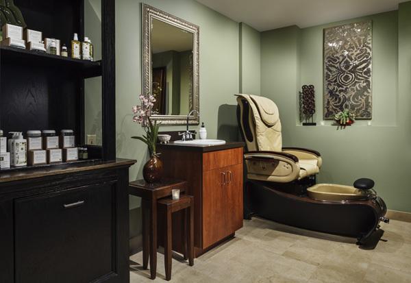 The spa at Alta's Rustler Lodge.