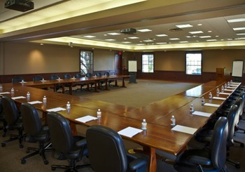 Meeting room at Purple Sage Ranch.
