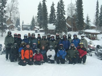 Snowmobile Group at Northwoods Lodge