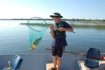 Fishing at Elm Haven Resort.