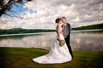 Wedding couple at Interlaken Resort & Conference Center.