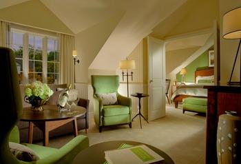 Guest room at The Woodstock Inn & Resort.