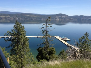 Beautiful views of Lake Okanagan