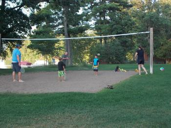 Volleyball court at Good Ol' Days Resort.