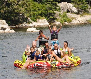 Fun lake activities at Moosehorn Resort!