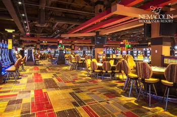Interior view of casino at Nemacolin Woodlands Resort.