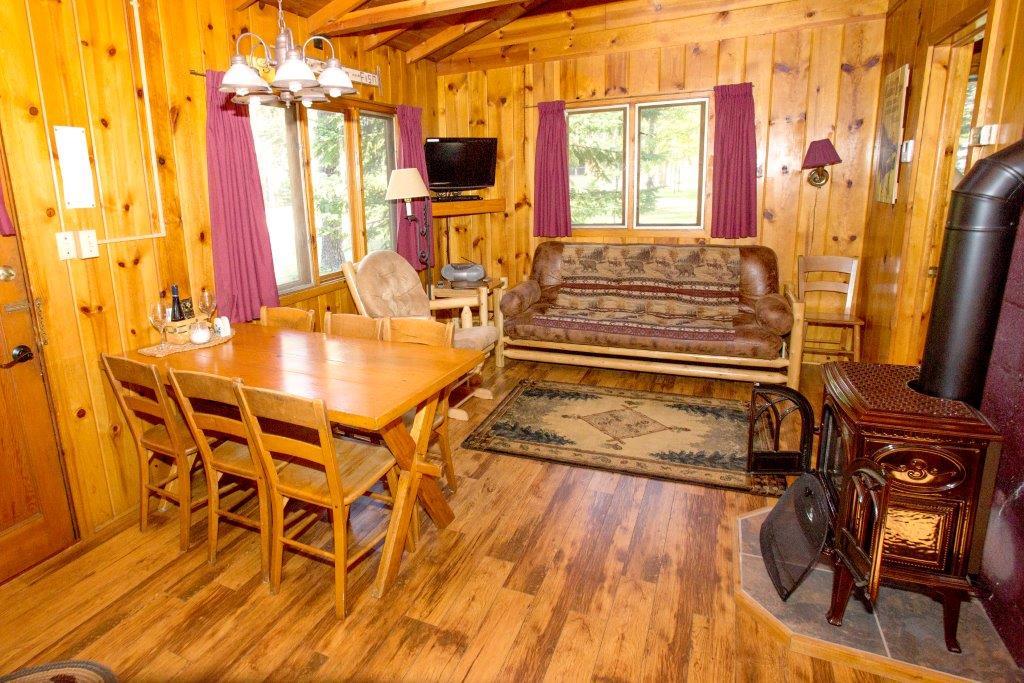 Cabin interior at Timber Bay Lodge & Houseboats.