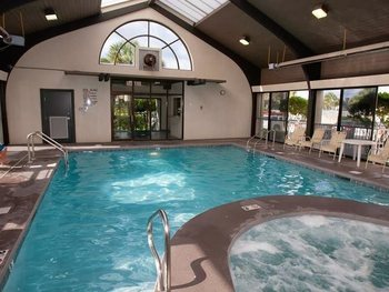 Indoor pool at Gulf Beach Rentals.