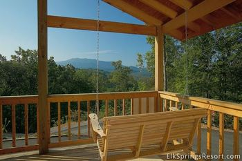 Cabin deck at Elk Springs Resort.