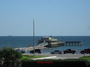 Resort fishing pier at A B Sea Resorts.