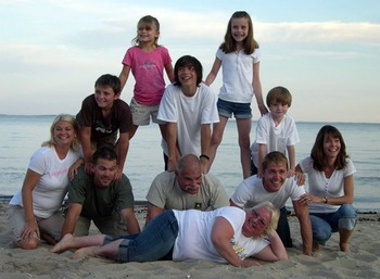 Family picture at Hawk's Nest Beach.