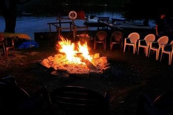 Bonfire at Ogopogo Resort.