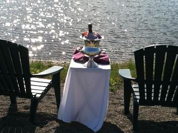 Romantic dining at Seneca Springs Resort.