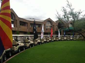 Golf carts at The Lodge at Ventana Canyon.