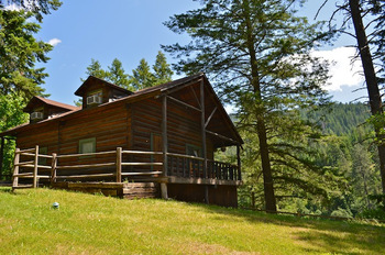 Cabin Exterior at Red Horse Mountain Ranch